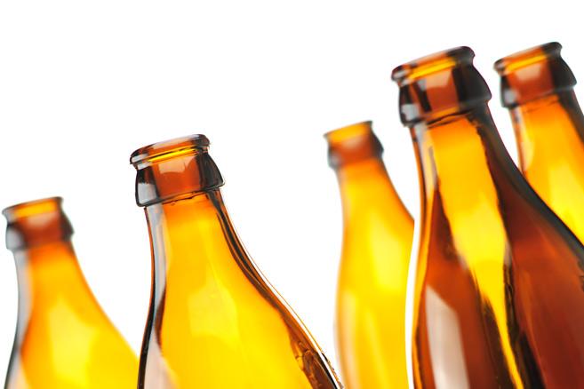 freigestellte Bierflaschen