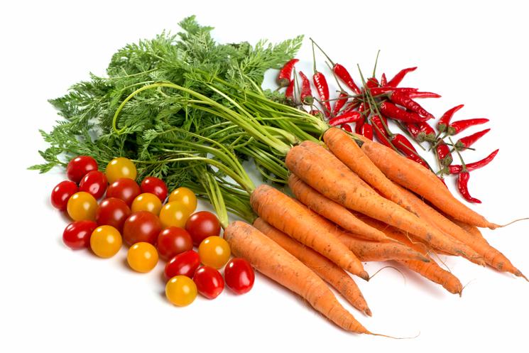 Karotten mit Tomaten