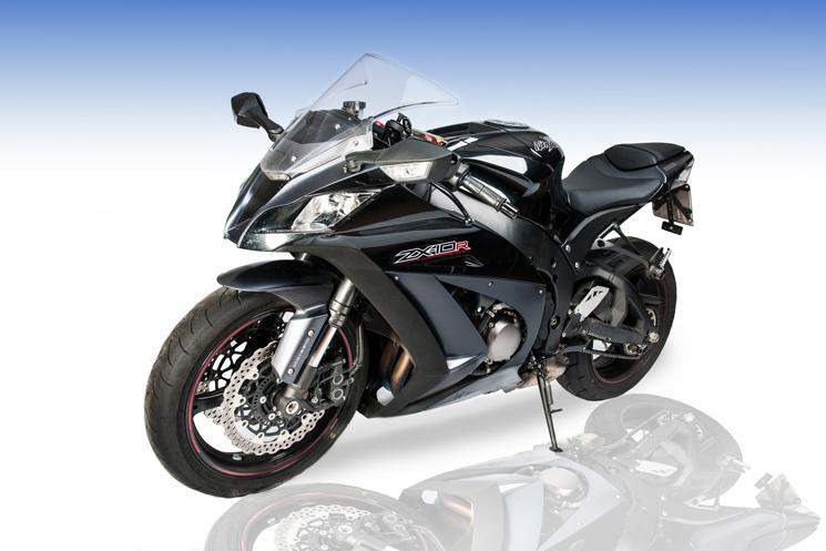 Motorrad freigestellt