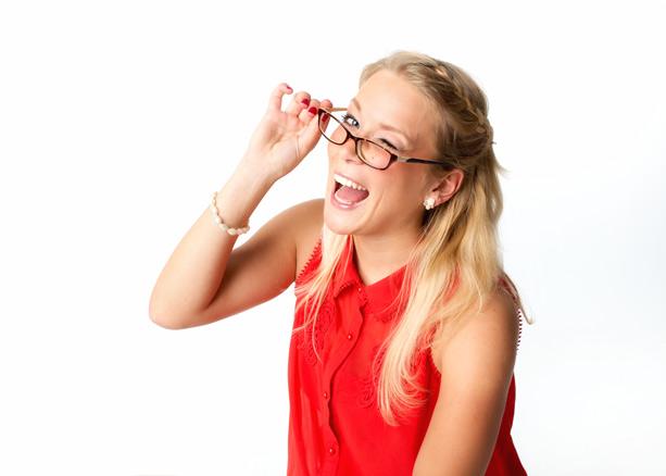 attraktive Frau mit Brille