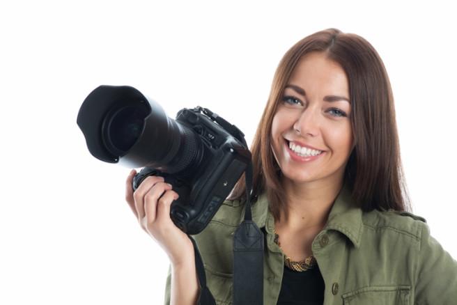 junge Fotografin