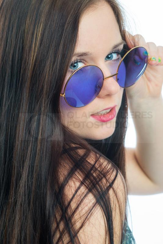 Gesicht mit Brille