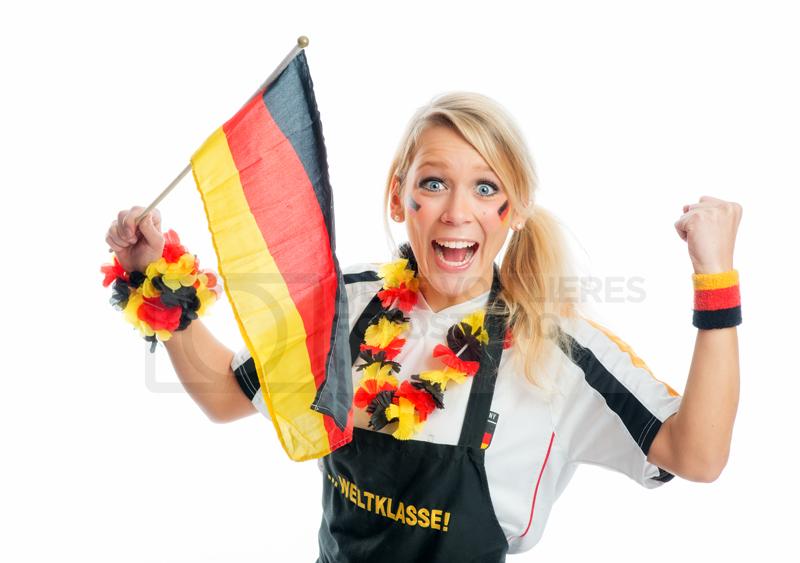 Fussballfan mit Deutschlandfahne