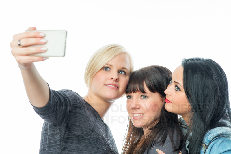 sich selbst mit Handy fotografieren