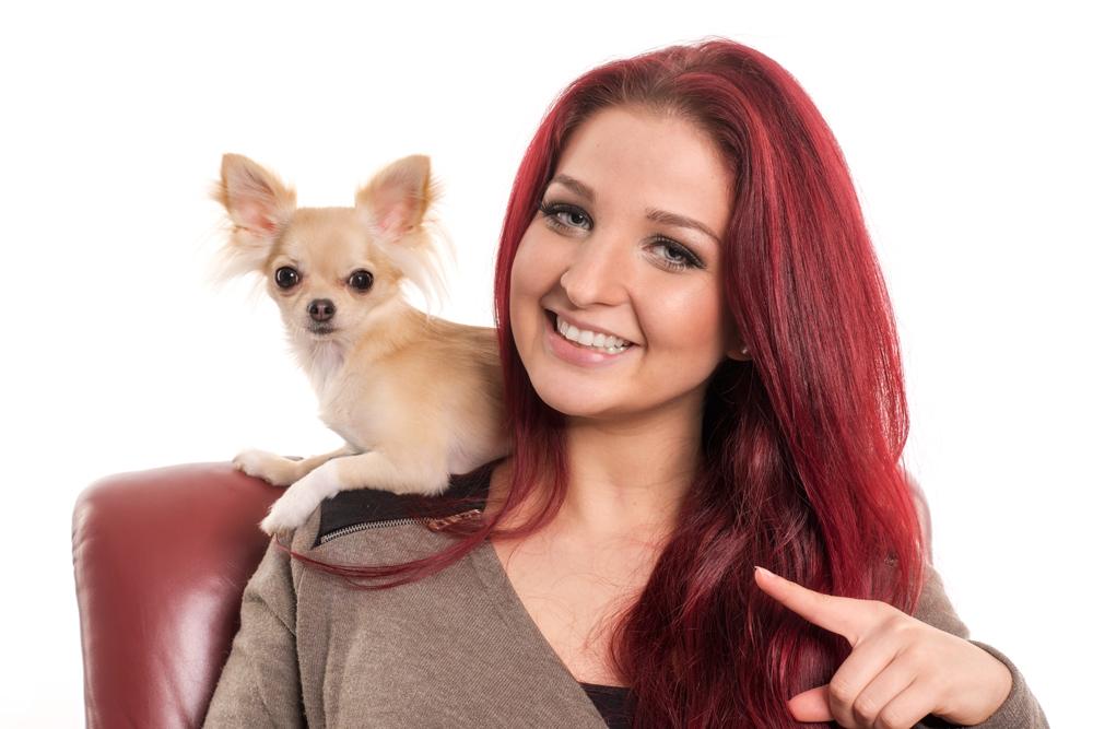 Porträt mit Hund