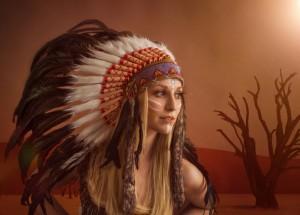 weiblicher Indianer