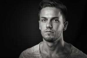 männliches Portrait Stockfoto