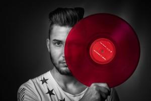 DJ mit Platte